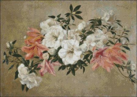 click here to view larger image of Fantin-Latour Petunias (chart)