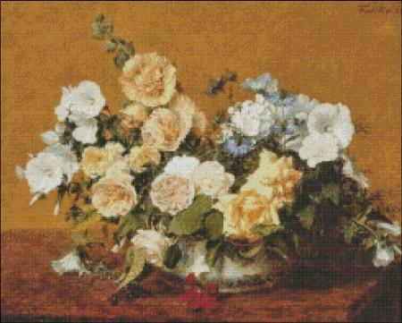 click here to view larger image of Fantin-Latour Roses and other Flowers (chart)