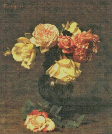 click here to view larger image of Fantin-Latour Yellow Roses (chart)