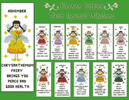 click here to view larger image of Flower Fairies All Year Round Bookmark Collection (chart)