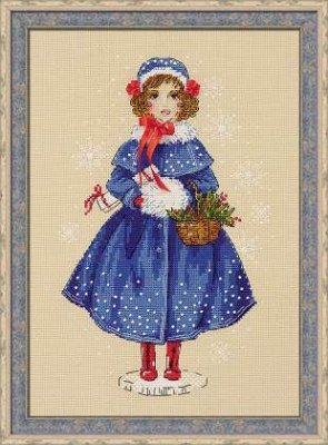 click here to view larger image of Doll Marie (counted cross stitch kit)