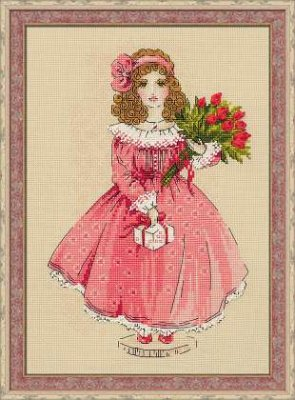click here to view larger image of Doll Sophie (counted cross stitch kit)