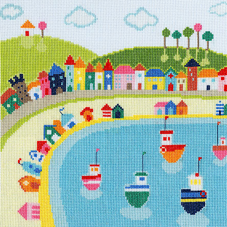 click here to view larger image of Beach Huts (counted cross stitch kit)