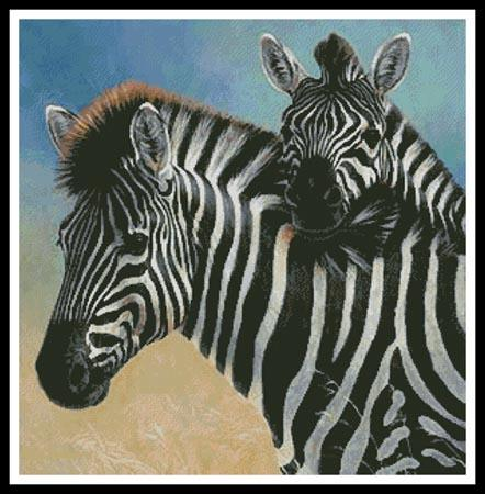 click here to view larger image of Zebra and Foal (chart)