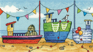 click here to view larger image of Boats - By The Sea (Aida) (counted cross stitch kit)