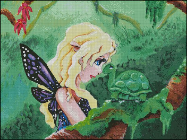 click here to view larger image of Fairy With Turtle Friend (chart)