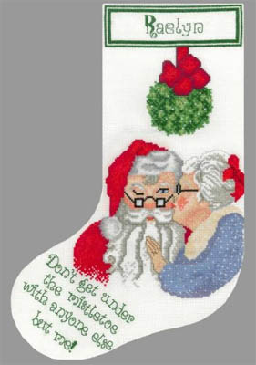 Mistletoe Stocking - click here for more details about chart