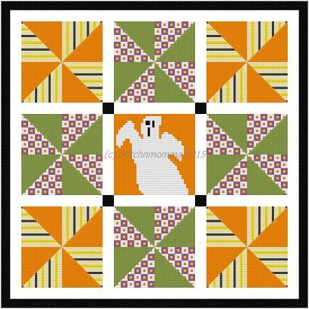 click here to view larger image of Pinwheel Halloween Quilt (chart)