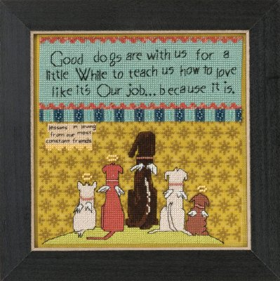 click here to view larger image of Good Dogs - Curly Girl Everyday Series (counted cross stitch kit)
