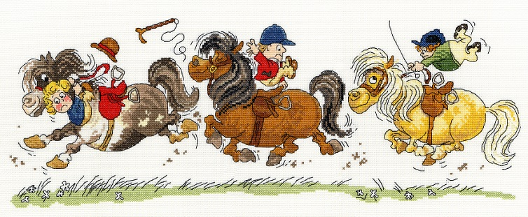 click here to view larger image of Horse Play (counted cross stitch kit)