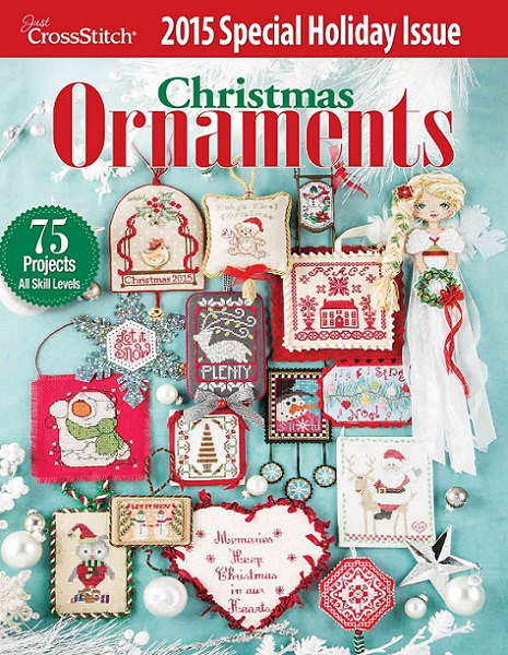 click here to view larger image of Just Cross stitch - 2015 Christmas Ornaments (magazines)