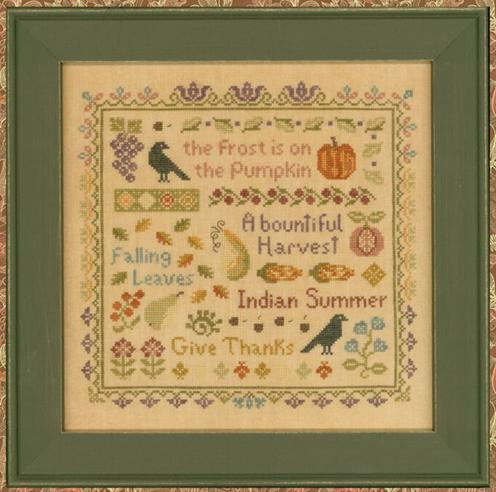 click here to view larger image of Antique Autumn Sampler (chart)