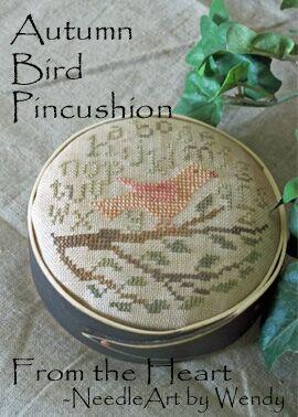 click here to view larger image of Autumn Bird Pincushion (chart)