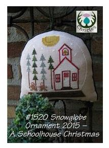 click here to view larger image of Snowglobe Ornament 2015 - Schoolhouse Christmas (chart)
