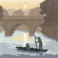click here to view larger image of Silhouettes On The River (27ct) (counted cross stitch kit)