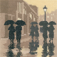 click here to view larger image of Silhouettes Brollies (27ct) (counted cross stitch kit)