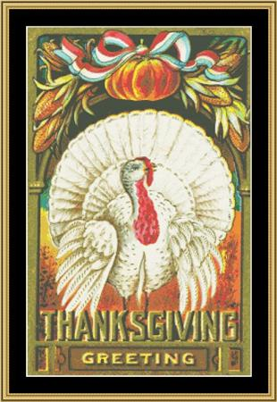 click here to view larger image of Happy Thanksgiving (chart)