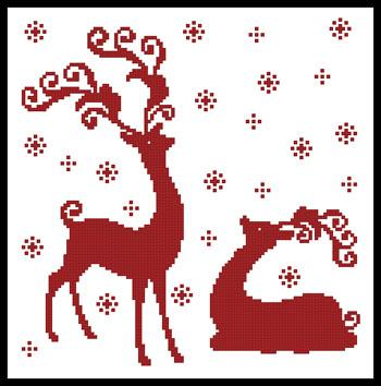 click here to view larger image of Reindeer Silhouettes (chart)