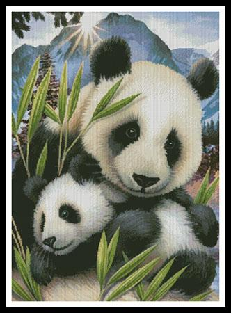 click here to view larger image of Panda and Cub (chart)