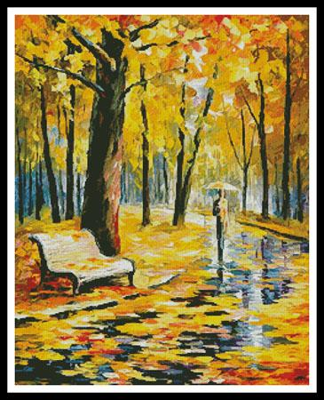 click here to view larger image of Fall Rain  (Leonid Afremov) (chart)