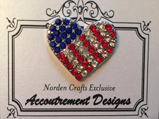 click here to view larger image of US Flag Heart - Limited Edition (accessory)