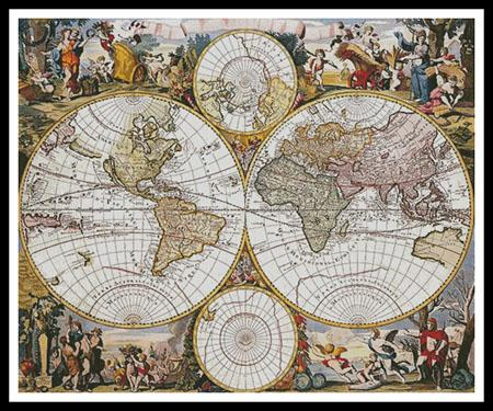 click here to view larger image of Old World Map (Large) (chart)