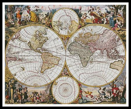 click here to view larger image of Old World Map (Regular) (chart)