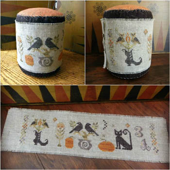 click here to view larger image of Halloween Menagerie - Drum Wrap (chart)