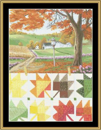 click here to view larger image of Maple Leaf Quilt (chart)