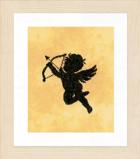 Cupid 2 - click here for more details about stamped cross stitch