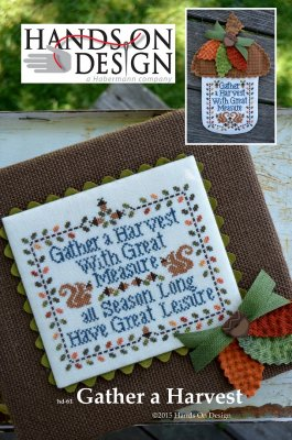 click here to view larger image of Gather A Harvest - Sampler and Acorn Door Hanger (chart)