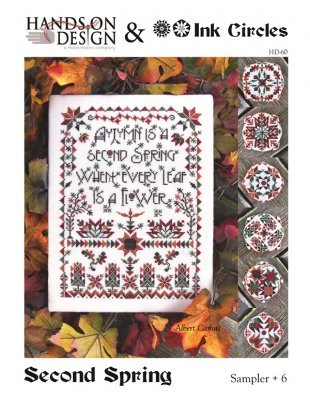 Second Spring - Sampler and 6 Biscornu - click here for more details about chart