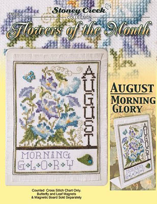 click here to view larger image of Flowers of the Month - August Morning Glory (chart)