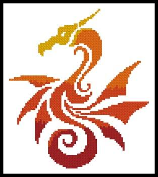 click here to view larger image of Mini Tribal Dragon (chart)