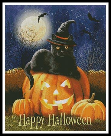 click here to view larger image of Happy Halloween Kitty  (Thomas Wood) (chart)