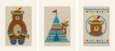 click here to view larger image of Indian Bear (3 Designs) (counted cross stitch kit)