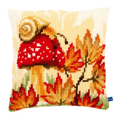 click here to view larger image of Autumn Scene Cushion (needlepoint)