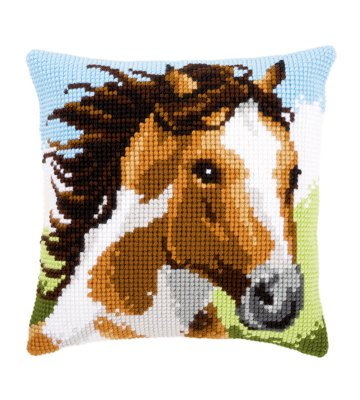 click here to view larger image of Fiery Stallion Cushion (needlepoint)