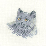click here to view larger image of British Blue - Little Friend Collection (27ct) (counted cross stitch kit)