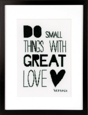 click here to view larger image of Do Small Things (counted cross stitch kit)