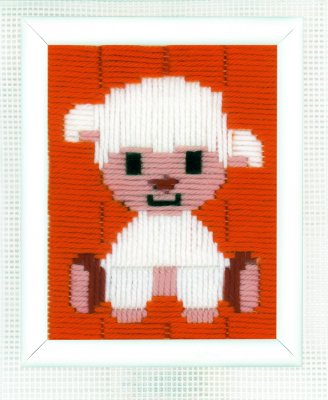 click here to view larger image of Lamb - Long Stitch (needlepoint)