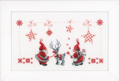 click here to view larger image of Elves and Reindeer (counted cross stitch kit)