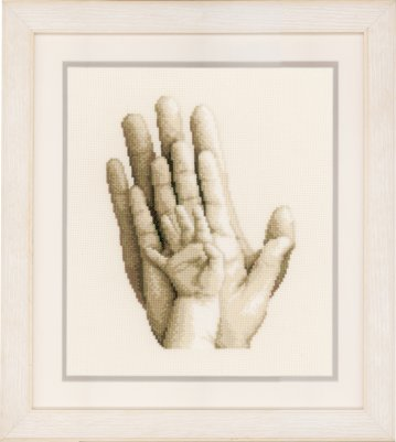 click here to view larger image of Hands (counted cross stitch kit)