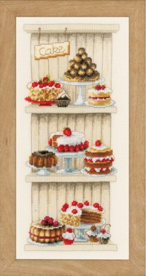 click here to view larger image of Delicious Cakes (counted cross stitch kit)