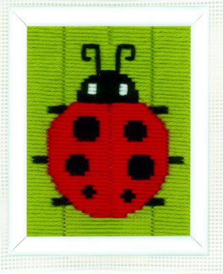 click here to view larger image of Ladybug - Long Stitch (needlepoint)