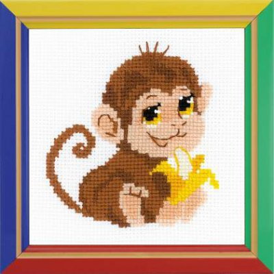 click here to view larger image of Monkey (counted cross stitch kit)