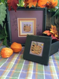 click here to view larger image of Halloween Pumpkin Box (counted cross stitch kit)