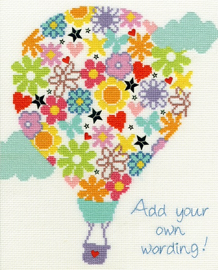 click here to view larger image of Balloon Bouquet (counted cross stitch kit)