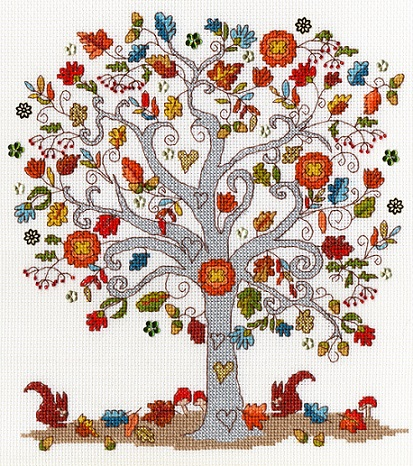click here to view larger image of Love Autumn (counted cross stitch kit)