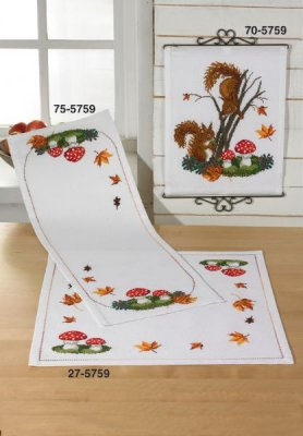 click here to view larger image of Fall Table Cloth (Lower) (counted cross stitch kit)